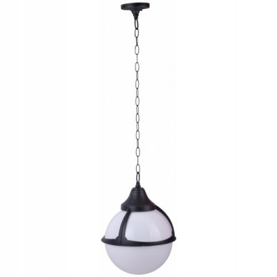 Светильник уличный Arte lamp A1495SO-1BK MonacoПодвесные<br>Обеспечение качественного уличного освещения – важная задача для владельцев коттеджей. Компания «Светодом» предлагает современные светильники, которые порадуют Вас отличным исполнением. В нашем каталоге представлена продукция известных производителей, пользующихся популярностью благодаря высокому качеству выпускаемых товаров.   Уличный светильник Arte lamp A1495SO-1BK не просто обеспечит качественное освещение, но и станет украшением Вашего участка. Модель выполнена из современных материалов и имеет влагозащитный корпус, благодаря которому ей не страшны осадки.   Купить уличный светильник Arte lamp A1495SO-1BK, представленный в нашем каталоге, можно с помощью онлайн-формы для заказа. Чтобы задать имеющиеся вопросы, звоните нам по указанным телефонам.<br><br>S освещ. до, м2: 7<br>Тип лампы: накаливания / энергосбережения / LED-светодиодная<br>Тип цоколя: E27<br>Количество ламп: 1<br>Ширина, мм: 270<br>MAX мощность ламп, Вт: 100<br>Диаметр, мм мм: 270<br>Длина цепи/провода, мм: 670<br>Длина, мм: 270<br>Высота, мм: 370<br>Цвет арматуры: черный