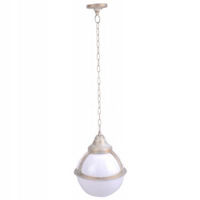 Светильник уличный Arte lamp A1495SO-1WG MonacoПодвесные<br>Обеспечение качественного уличного освещени – важна задача дл владельцев коттеджей. Компани «Светодом» предлагает современные светильники, которые порадут Вас отличным исполнением. В нашем каталоге представлена продукци известных производителей, пользущихс популрность благодар высокому качеству выпускаемых товаров.   Уличный светильник Arte lamp A1495SO-1WG не просто обеспечит качественное освещение, но и станет украшением Вашего участка. Модель выполнена из современных материалов и имеет влагозащитный корпус, благодар которому ей не страшны осадки.   Купить уличный светильник Arte lamp A1495SO-1WG, представленный в нашем каталоге, можно с помощь онлайн-формы дл заказа. Чтобы задать имещиес вопросы, звоните нам по указанным телефонам. Мы доставим Ваш заказ не только в Москву и Екатеринбург, но и другие города.<br><br>S освещ. до, м2: 7<br>Тип лампы: накаливани / нергосбережени / LED-светодиодна<br>Тип цокол: E27<br>Количество ламп: 1<br>Ширина, мм: 270<br>MAX мощность ламп, Вт: 100<br>Диаметр, мм мм: 270<br>Длина цепи/провода, мм: 670<br>Длина, мм: 270<br>Высота, мм: 370<br>Цвет арматуры: белый