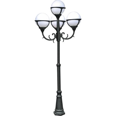Светильник уличный Arte lamp A1497PA-4BK MonacoБольшие фонари<br>Обеспечение качественного уличного освещения – важная задача для владельцев коттеджей. Компания «Светодом» предлагает современные светильники, которые порадуют Вас отличным исполнением. В нашем каталоге представлена продукция известных производителей, пользующихся популярностью благодаря высокому качеству выпускаемых товаров.   Уличный светильник Arte lamp A1497PA-4BK не просто обеспечит качественное освещение, но и станет украшением Вашего участка. Модель выполнена из современных материалов и имеет влагозащитный корпус, благодаря которому ей не страшны осадки.   Купить уличный светильник Arte lamp A1497PA-4BK, представленный в нашем каталоге, можно с помощью онлайн-формы для заказа. Чтобы задать имеющиеся вопросы, звоните нам по указанным телефонам.<br><br>S освещ. до, м2: 27<br>Тип лампы: накаливания / энергосбережения / LED-светодиодная<br>Тип цоколя: E27<br>Цвет арматуры: черный<br>Количество ламп: 4<br>Ширина, мм: 750<br>Диаметр, мм мм: 750<br>Длина, мм: 750<br>Высота, мм: 2300<br>MAX мощность ламп, Вт: 100