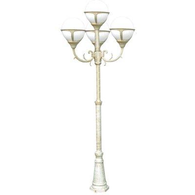 Светильник уличный Arte lamp A1497PA-4WG MonacoБольшие фонари<br>Обеспечение качественного уличного освещения – важная задача для владельцев коттеджей. Компания «Светодом» предлагает современные светильники, которые порадуют Вас отличным исполнением. В нашем каталоге представлена продукция известных производителей, пользующихся популярностью благодаря высокому качеству выпускаемых товаров.   Уличный светильник Arte lamp A1497PA-4WG не просто обеспечит качественное освещение, но и станет украшением Вашего участка. Модель выполнена из современных материалов и имеет влагозащитный корпус, благодаря которому ей не страшны осадки.   Купить уличный светильник Arte lamp A1497PA-4WG, представленный в нашем каталоге, можно с помощью онлайн-формы для заказа. Чтобы задать имеющиеся вопросы, звоните нам по указанным телефонам.<br><br>S освещ. до, м2: 27<br>Тип лампы: накаливания / энергосбережения / LED-светодиодная<br>Тип цоколя: E27<br>Цвет арматуры: белый<br>Количество ламп: 4<br>Ширина, мм: 750<br>Диаметр, мм мм: 750<br>Длина, мм: 750<br>Высота, мм: 2300<br>MAX мощность ламп, Вт: 100