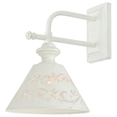 Светильник Arte lamp A1511AP-1WG KensingtonРустика<br><br><br>Тип лампы: Накаливания / энергосбережения / светодиодная<br>Тип цоколя: E14<br>Цвет арматуры: белый<br>Количество ламп: 1<br>Ширина, мм: 210<br>Длина, мм: 290<br>Высота, мм: 310<br>MAX мощность ламп, Вт: 40