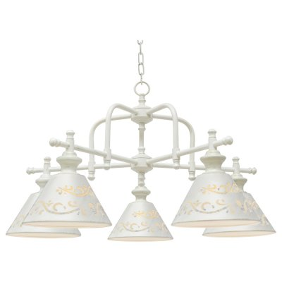 Светильник Arte lamp A1511LM-5WG KensingtonПодвесные<br>Компания «Светодом» предлагает широкий ассортимент люстр от известных производителей. Представленные в нашем каталоге товары выполнены из современных материалов и обладают отличным качеством. Благодаря широкому ассортименту Вы сможете найти у нас люстру под любой интерьер. Мы предлагаем как классические варианты, так и современные модели, отличающиеся лаконичностью и простотой форм.  Стильная люстра Arte lamp A1511LM-5WG станет украшением любого дома. Эта модель от известного производителя не оставит равнодушным ценителей красивых и оригинальных предметов интерьера. Люстра Arte lamp A1511LM-5WG обеспечит равномерное распределение света по всей комнате. При выборе обратите внимание на характеристики, позволяющие приобрести наиболее подходящую модель. Купить понравившуюся люстру по доступной цене Вы можете в интернет-магазине «Светодом».<br><br>Установка на натяжной потолок: Да<br>S освещ. до, м2: 10<br>Крепление: Крюк<br>Тип лампы: Накаливания / энергосбережения / светодиодная<br>Тип цоколя: E14<br>Количество ламп: 5<br>MAX мощность ламп, Вт: 40<br>Диаметр, мм мм: 780<br>Высота, мм: 410<br>Цвет арматуры: белый