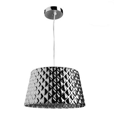 Светильник Arte lamp A1554SP-1CC FACEZIAПодвесные<br>Компания «Светодом» предлагает широкий ассортимент люстр от известных производителей. Представленные в нашем каталоге товары выполнены из современных материалов и обладают отличным качеством. Благодаря широкому ассортименту Вы сможете найти у нас люстру под любой интерьер. Мы предлагаем как классические варианты, так и современные модели, отличающиеся лаконичностью и простотой форм.  Стильная люстра Arte lamp A1554SP-1CC станет украшением любого дома. Эта модель от известного производителя не оставит равнодушным ценителей красивых и оригинальных предметов интерьера. Люстра Arte lamp A1554SP-1CC обеспечит равномерное распределение света по всей комнате. При выборе обратите внимание на характеристики, позволяющие приобрести наиболее подходящую модель. Купить понравившуюся люстру по доступной цене Вы можете в интернет-магазине «Светодом».<br><br>Установка на натяжной потолок: Да<br>S освещ. до, м2: 2<br>Крепление: Планка<br>Тип лампы: Накаливания / энергосбережения / светодиодная<br>Тип цоколя: E27<br>Цвет арматуры: серебристый<br>Количество ламп: 1<br>Диаметр, мм мм: 350<br>Размеры: H23xW35xL35+шн/цп100<br>Высота, мм: 230 - 1250<br>MAX мощность ламп, Вт: 40