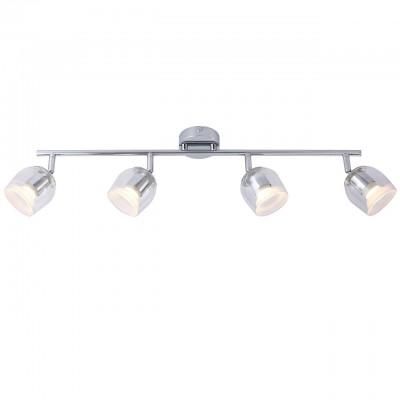 Светильник потолочный Arte lamp A1558PL-4CC ECHEGGIOС 4 лампами<br>Светильники-споты – это оригинальные изделия с современным дизайном. Они позволяют не ограничивать свою фантазию при выборе освещения для интерьера. Такие модели обеспечивают достаточно качественный свет. Благодаря компактным размерам Вы можете использовать несколько спотов для одного помещения.  Интернет-магазин «Светодом» предлагает необычный светильник-спот ARTE Lamp A1558PL-4CC по привлекательной цене. Эта модель станет отличным дополнением к люстре, выполненной в том же стиле. Перед оформлением заказа изучите характеристики изделия.  Купить светильник-спот ARTE Lamp A1558PL-4CC в нашем онлайн-магазине Вы можете либо с помощью формы на сайте, либо по указанным выше телефонам. Обратите внимание, что у нас склады не только в Москве и Екатеринбурге, но и других городах России.<br><br>S освещ. до, м2: 7<br>Тип цоколя: LED<br>Цвет арматуры: серебристый<br>Количество ламп: 4<br>Размеры: H18xW8xL67<br>MAX мощность ламп, Вт: 4