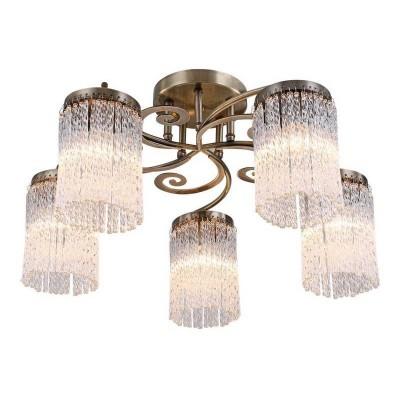 Светильник потолочный Arte lamp A1576PL-5AB SPRUZZOПотолочные<br>Компания «Светодом» предлагает широкий ассортимент люстр от известных производителей. Представленные в нашем каталоге товары выполнены из современных материалов и обладают отличным качеством. Благодаря широкому ассортименту Вы сможете найти у нас люстру под любой интерьер. Мы предлагаем как классические варианты, так и современные модели, отличающиеся лаконичностью и простотой форм.  Стильная люстра Arte lamp A1576PL-5AB станет украшением любого дома. Эта модель от известного производителя не оставит равнодушным ценителей красивых и оригинальных предметов интерьера. Люстра Arte lamp A1576PL-5AB обеспечит равномерное распределение света по всей комнате. При выборе обратите внимание на характеристики, позволяющие приобрести наиболее подходящую модель. Купить понравившуюся люстру по доступной цене Вы можете в интернет-магазине «Светодом».<br><br>Установка на натяжной потолок: Ограничено<br>S освещ. до, м2: 15<br>Крепление: Планка<br>Тип лампы: Накаливания / энергосбережения / светодиодная<br>Тип цоколя: E14<br>Количество ламп: 5<br>MAX мощность ламп, Вт: 60<br>Размеры: H32xW55xL55<br>Цвет арматуры: бронзовый