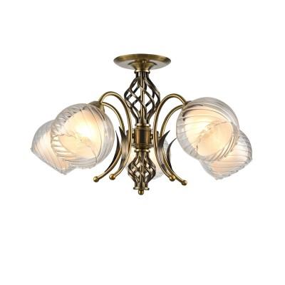 A1607PL-5AB Arte Lamp светильникПотолочные<br><br><br>S освещ. до, м2: 15<br>Тип лампы: Накаливания / энергосбережения / светодиодная<br>Тип цоколя: E27<br>Цвет арматуры: античный бронзовый<br>Количество ламп: 5<br>Диаметр, мм мм: 610<br>Длина, мм: 610<br>Высота, мм: 260<br>MAX мощность ламп, Вт: 60W