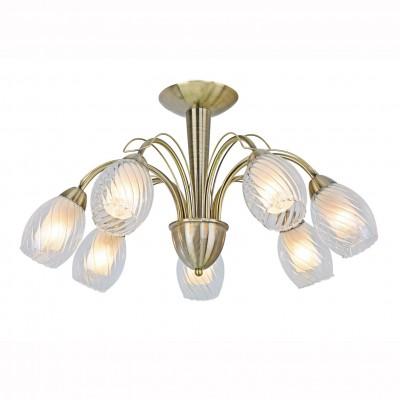 Светильник потолочный Arte lamp A1673PL-7AB TEMPESTAПотолочные<br><br><br>Установка на натяжной потолок: Да<br>S освещ. до, м2: 21<br>Крепление: Планка<br>Тип лампы: Накаливания / энергосбережения / светодиодная<br>Тип цоколя: E14<br>Цвет арматуры: бронзовый<br>Количество ламп: 7<br>Диаметр, мм мм: 650<br>Размеры: H38xW65xL65<br>Высота, мм: 380<br>MAX мощность ламп, Вт: 60