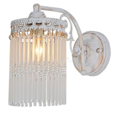 Светильник настенный бра Arte lamp A1678AP-1WG TORRENTEхрустальные бра<br><br><br>Тип лампы: Накаливания / энергосбережения / светодиодная<br>Тип цоколя: E14<br>Цвет арматуры: белый с золотистой патиной<br>Количество ламп: 1<br>Размеры: H22xW25xL15<br>MAX мощность ламп, Вт: 60