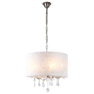 Люстра подвесная Arte lamp A1800LM-5WH JenniferПодвесные<br>Компания «Светодом» предлагает широкий ассортимент люстр от известных производителей. Представленные в нашем каталоге товары выполнены из современных материалов и обладают отличным качеством. Благодаря широкому ассортименту Вы сможете найти у нас люстру под любой интерьер. Мы предлагаем как классические варианты, так и современные модели, отличающиеся лаконичностью и простотой форм.  Стильная люстра Arte lamp A1800LM-5WH станет украшением любого дома. Эта модель от известного производителя не оставит равнодушным ценителей красивых и оригинальных предметов интерьера. Люстра Arte lamp A1800LM-5WH обеспечит равномерное распределение света по всей комнате. При выборе обратите внимание на характеристики, позволяющие приобрести наиболее подходящую модель. Купить понравившуюся люстру по доступной цене Вы можете в интернет-магазине «Светодом». Мы предлагаем доставку не только по Москве и Екатеринбурге, но и по всей России.<br><br>Установка на натяжной потолок: Да<br>S освещ. до, м2: 14<br>Крепление: Крюк<br>Тип лампы: накаливания / энергосбережения / LED-светодиодная<br>Тип цоколя: E14<br>Количество ламп: 5<br>Ширина, мм: 500<br>MAX мощность ламп, Вт: 40<br>Диаметр, мм мм: 500<br>Длина цепи/провода, мм: 900<br>Высота, мм: 500<br>Цвет арматуры: серебристый