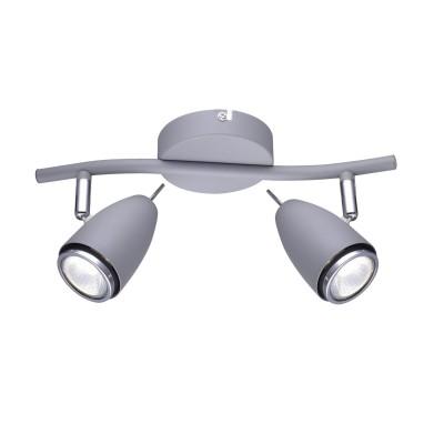 A1966AP-2GY Arte lamp СветильникДвойные<br><br><br>Тип цоколя: GU10<br>Количество ламп: 2<br>MAX мощность ламп, Вт: 50W<br>Диаметр, мм мм: 140<br>Длина, мм: 330<br>Высота, мм: 170<br>Цвет арматуры: СЕРЫЙ<br>Общая мощность, Вт: 50W