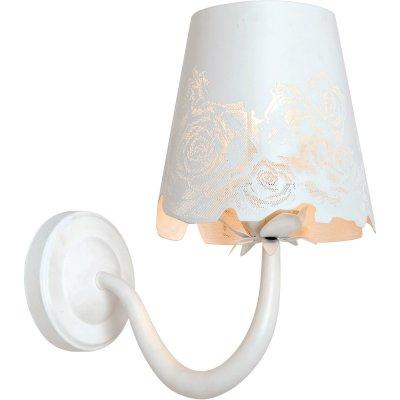 Бра с одним рожком Arte lamp A2020AP-1WH AttoreСовременные<br><br><br>S освещ. до, м2: 2<br>Тип лампы: накаливания / энергосбережения / LED-светодиодная<br>Тип цоколя: E14<br>Количество ламп: 1<br>Ширина, мм: 150<br>MAX мощность ламп, Вт: 40<br>Длина, мм: 260<br>Высота, мм: 290<br>Оттенок (цвет): белый<br>Цвет арматуры: белый