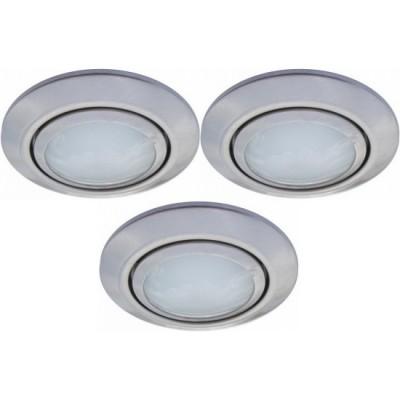 Светильник встраиваемый Arte lamp A2023PL-3SS TopicВ ванную<br>Встраиваемые светильники – популярное осветительное оборудование, которое можно использовать в качестве основного источника или в дополнение к люстре. Они позволяют создать нужную атмосферу атмосферу и привнести в интерьер уют и комфорт. <br> Интернет-магазин «Светодом» предлагает стильный встраиваемый светильник ARTE Lamp A2023PL-3SS. Данная модель достаточно универсальна, поэтому подойдет практически под любой интерьер. Перед покупкой не забудьте ознакомиться с техническими параметрами, чтобы узнать тип цоколя, площадь освещения и другие важные характеристики. <br> Приобрести встраиваемый светильник ARTE Lamp A2023PL-3SS в нашем онлайн-магазине Вы можете либо с помощью «Корзины», либо по контактным номерам. Мы доставляем заказы по Москве, Екатеринбургу и остальным российским городам.<br><br>S освещ. до, м2: 4<br>Тип лампы: галогенная<br>Тип цоколя: G4<br>Количество ламп: 3<br>Ширина, мм: 75<br>MAX мощность ламп, Вт: 20<br>Диаметр, мм мм: 75<br>Диаметр врезного отверстия, мм: 60<br>Высота, мм: 25<br>Цвет арматуры: серебристый
