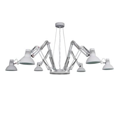 A2043SP-6WH Arte lamp СветильникПодвесные<br><br><br>S освещ. до, м2: 18<br>Крепление: Планка<br>Тип лампы: Накаливания / энергосбережения / светодиодная<br>Тип цоколя: E27<br>Цвет арматуры: БЕЛЫЙ<br>Количество ламп: 6<br>Диаметр, мм мм: 1700<br>Длина цепи/провода, мм: 700<br>Размеры: ?1150*H1329<br>Длина, мм: 1700<br>Высота, мм: 420<br>MAX мощность ламп, Вт: 60W<br>Общая мощность, Вт: 60W