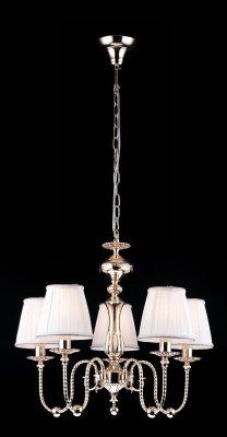 Подвесная люстра Arte lamp A2044LM-5GO OrafoПодвесные<br><br><br>Установка на натяжной потолок: Да<br>S освещ. до, м2: 20<br>Крепление: Крюк<br>Тип товара: Люстра подвесная<br>Скидка, %: 12<br>Тип лампы: накаливания / энергосбережения / LED-светодиодная<br>Тип цоколя: E14<br>Количество ламп: 5<br>MAX мощность ламп, Вт: 60<br>Диаметр, мм мм: 600<br>Высота, мм: 520<br>Оттенок (цвет): белый<br>Цвет арматуры: золотой