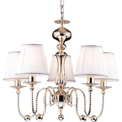 Подвесная люстра Arte lamp A2044LM-5GO OrafoПодвесные<br>Компания «Светодом» предлагает широкий ассортимент люстр от известных производителей. Представленные в нашем каталоге товары выполнены из современных материалов и обладают отличным качеством. Благодаря широкому ассортименту Вы сможете найти у нас люстру под любой интерьер. Мы предлагаем как классические варианты, так и современные модели, отличающиеся лаконичностью и простотой форм.  Стильная люстра Arte lamp A2044LM-5GO станет украшением любого дома. Эта модель от известного производителя не оставит равнодушным ценителей красивых и оригинальных предметов интерьера. Люстра Arte lamp A2044LM-5GO обеспечит равномерное распределение света по всей комнате. При выборе обратите внимание на характеристики, позволяющие приобрести наиболее подходящую модель. Купить понравившуюся люстру по доступной цене Вы можете в интернет-магазине «Светодом».<br><br>Установка на натяжной потолок: Да<br>S освещ. до, м2: 20<br>Крепление: Крюк<br>Тип лампы: накаливания / энергосбережения / LED-светодиодная<br>Тип цоколя: E14<br>Количество ламп: 5<br>MAX мощность ламп, Вт: 60<br>Диаметр, мм мм: 600<br>Высота, мм: 520<br>Оттенок (цвет): белый<br>Цвет арматуры: золотой