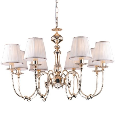 Подвесная люстра Arte lamp A2044LM-8GO OrafoПодвесные<br>Компания «Светодом» предлагает широкий ассортимент люстр от известных производителей. Представленные в нашем каталоге товары выполнены из современных материалов и обладают отличным качеством. Благодаря широкому ассортименту Вы сможете найти у нас люстру под любой интерьер. Мы предлагаем как классические варианты, так и современные модели, отличающиеся лаконичностью и простотой форм.  Стильная люстра Arte lamp A2044LM-8GO станет украшением любого дома. Эта модель от известного производителя не оставит равнодушным ценителей красивых и оригинальных предметов интерьера. Люстра Arte lamp A2044LM-8GO обеспечит равномерное распределение света по всей комнате. При выборе обратите внимание на характеристики, позволяющие приобрести наиболее подходящую модель. Купить понравившуюся люстру по доступной цене Вы можете в интернет-магазине «Светодом».<br><br>Установка на натяжной потолок: Да<br>S освещ. до, м2: 24<br>Крепление: Крюк<br>Тип лампы: накаливания / энергосбережения / LED-светодиодная<br>Тип цоколя: E14<br>Количество ламп: 8<br>MAX мощность ламп, Вт: 60<br>Диаметр, мм мм: 800<br>Длина цепи/провода, мм: 500<br>Высота, мм: 550<br>Оттенок (цвет): белый<br>Цвет арматуры: золотой