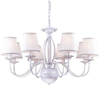 Люстра подвесная Arte lamp A2046LM-8WG CalamaroПодвесные<br>Компания «Светодом» предлагает широкий ассортимент люстр от известных производителей. Представленные в нашем каталоге товары выполнены из современных материалов и обладают отличным качеством. Благодаря широкому ассортименту Вы сможете найти у нас люстру под любой интерьер. Мы предлагаем как классические варианты, так и современные модели, отличающиеся лаконичностью и простотой форм. <br>Стильная люстра Arte lamp A2046LM-8WG станет украшением любого дома. Эта модель от известного производителя не оставит равнодушным ценителей красивых и оригинальных предметов интерьера. Люстра Arte lamp A2046LM-8WG обеспечит равномерное распределение света по всей комнате. При выборе обратите внимание на характеристики, позволяющие приобрести наиболее подходящую модель. <br>Купить понравившуюся люстру по доступной цене Вы можете в интернет-магазине «Светодом».<br><br>Установка на натяжной потолок: Да<br>S освещ. до, м2: 24<br>Крепление: Крюк<br>Тип лампы: накаливания / энергосбережения / LED-светодиодная<br>Тип цоколя: E14<br>Цвет арматуры: белый с золотистой патиной<br>Количество ламп: 8<br>Диаметр, мм мм: 800<br>Длина цепи/провода, мм: 500<br>Высота, мм: 520<br>Оттенок (цвет): белый<br>MAX мощность ламп, Вт: 60