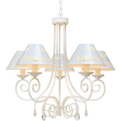Люстра подвесная Arte lamp A2050LM-5WG ScrittoreПодвесные<br>Компания «Светодом» предлагает широкий ассортимент люстр от известных производителей. Представленные в нашем каталоге товары выполнены из современных материалов и обладают отличным качеством. Благодаря широкому ассортименту Вы сможете найти у нас люстру под любой интерьер. Мы предлагаем как классические варианты, так и современные модели, отличающиеся лаконичностью и простотой форм.  Стильная люстра Arte lamp A2050LM-5WG станет украшением любого дома. Эта модель от известного производителя не оставит равнодушным ценителей красивых и оригинальных предметов интерьера. Люстра Arte lamp A2050LM-5WG обеспечит равномерное распределение света по всей комнате. При выборе обратите внимание на характеристики, позволяющие приобрести наиболее подходящую модель. Купить понравившуюся люстру по доступной цене Вы можете в интернет-магазине «Светодом».<br><br>Установка на натяжной потолок: Да<br>S освещ. до, м2: 13<br>Крепление: Крюк<br>Тип лампы: накаливания / энергосбережения / LED-светодиодная<br>Тип цоколя: E14<br>Цвет арматуры: белый с золотистой патиной<br>Количество ламп: 5<br>Диаметр, мм мм: 700<br>Высота, мм: 630<br>Оттенок (цвет): белый<br>MAX мощность ламп, Вт: 40