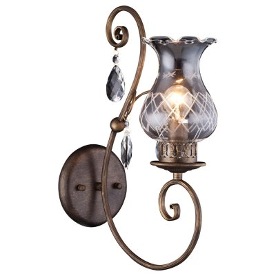 Светильник Arte lamp A2053AP-1BR PalermoКлассические<br><br><br>Тип лампы: накал-я - энергосбер-я<br>Тип цоколя: E14<br>Цвет арматуры: бронзовый<br>Количество ламп: 1<br>Ширина, мм: 270<br>Длина, мм: 140<br>Высота, мм: 420<br>MAX мощность ламп, Вт: 60