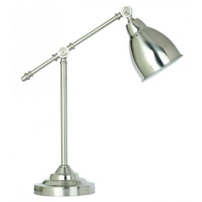 Светильник настольный Arte lamp A2054LT-1SS BRACCIOЛофт<br>Настольная лампа – это не просто источник дополнительного освещения, но и оригинальный элемент декора. Его можно установить в спальне, гостиной, кабинете и других комнатах. Интернет-магазин «Светодом» предлагает настольные лампы разных стилей по доступным ценам. Благодаря большому ассортименту Вы обязательно найдете в нашем каталоге именно ту модель, которую искали. <br> Настольная лампа Arte lamp A2054LT-1SS – прекрасный вариант для завершения интерьера. Ее можно включить одновременно с люстрой для более яркого освещения или без нее для создания уютной атмосферы, настраивающей на отдых. <br> Купить настольную лампу Arte lamp A2054LT-1SS Вы можете с помощью виртуальной «Корзины» или по контактным номерам, указанным на сайте.<br><br>Тип цоколя: E27<br>Цвет арматуры: серебристый<br>Количество ламп: 1<br>Размеры: H52xW18xL47<br>MAX мощность ламп, Вт: 60