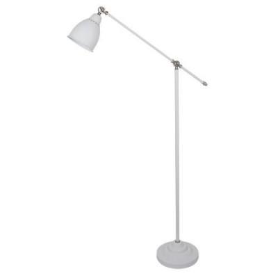 Светильник напольный Arte lamp A2054PN-1WH Braccioклассические торшеры<br><br><br>Тип цоколя: E27<br>Цвет арматуры: БЕЛЫЙ<br>Количество ламп: 1<br>Диаметр, мм мм: 250<br>Размеры: 900*250*1500<br>Длина, мм: 900<br>Высота, мм: 1500<br>MAX мощность ламп, Вт: 60W<br>Общая мощность, Вт: 60W