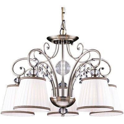 Подвесная люстра Arte lamp A2079LM-5AB FabbroПодвесные<br>Компания «Светодом» предлагает широкий ассортимент люстр от известных производителей. Представленные в нашем каталоге товары выполнены из современных материалов и обладают отличным качеством. Благодаря широкому ассортименту Вы сможете найти у нас люстру под любой интерьер. Мы предлагаем как классические варианты, так и современные модели, отличающиеся лаконичностью и простотой форм.  Стильная люстра Arte lamp A2079LM-5AB станет украшением любого дома. Эта модель от известного производителя не оставит равнодушным ценителей красивых и оригинальных предметов интерьера. Люстра Arte lamp A2079LM-5AB обеспечит равномерное распределение света по всей комнате. При выборе обратите внимание на характеристики, позволяющие приобрести наиболее подходящую модель. Купить понравившуюся люстру по доступной цене Вы можете в интернет-магазине «Светодом».<br><br>Установка на натяжной потолок: Да<br>S освещ. до, м2: 15<br>Крепление: Крюк<br>Тип лампы: накаливания / энергосбережения / LED-светодиодная<br>Тип цоколя: E14<br>Количество ламп: 5<br>MAX мощность ламп, Вт: 60<br>Диаметр, мм мм: 570<br>Длина цепи/провода, мм: 500<br>Высота, мм: 400<br>Оттенок (цвет): белый<br>Цвет арматуры: бронзовый