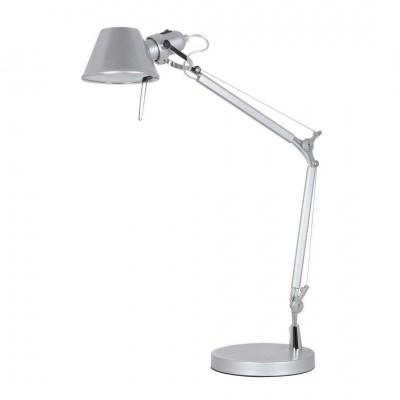 Светильник настольный Arte lamp A2098LT-1SI AIRONEОфисные<br>Настольная лампа – это не просто источник дополнительного освещения, но и оригинальный элемент декора. Его можно установить в спальне, гостиной, кабинете и других комнатах. Интернет-магазин «Светодом» предлагает настольные лампы разных стилей по доступным ценам. Благодаря большому ассортименту Вы обязательно найдете в нашем каталоге именно ту модель, которую искали.   Настольная лампа Arte lamp A2098LT-1SI – прекрасный вариант для завершения интерьера. Ее можно включить одновременно с люстрой для более яркого освещения или без нее для создания уютной атмосферы, настраивающей на отдых.   Купить настольную лампу Arte lamp A2098LT-1SI Вы можете с помощью виртуальной «Корзины» или по контактным номерам, указанным на сайте.<br><br>Тип цоколя: E27<br>Цвет арматуры: серебристый<br>Количество ламп: 1<br>Размеры: H70xW21xL52<br>MAX мощность ламп, Вт: 60