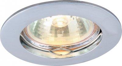 Светильник потолочный Arte lamp A2103PL-1CC BASICКруглые<br>Встраиваемые светильники – популярное осветительное оборудование, которое можно использовать в качестве основного источника или в дополнение к люстре. Они позволяют создать нужную атмосферу атмосферу и привнести в интерьер уют и комфорт.   Интернет-магазин «Светодом» предлагает стильный встраиваемый светильник ARTE Lamp A2103PL-1CC. Данная модель достаточно универсальна, поэтому подойдет практически под любой интерьер. Перед покупкой не забудьте ознакомиться с техническими параметрами, чтобы узнать тип цоколя, площадь освещения и другие важные характеристики.   Приобрести встраиваемый светильник ARTE Lamp A2103PL-1CC в нашем онлайн-магазине Вы можете либо с помощью «Корзины», либо по контактным номерам. Мы развозим заказы по Москве, Екатеринбургу и остальным российским городам.<br><br>Тип цоколя: GU10<br>Количество ламп: 1<br>MAX мощность ламп, Вт: 50<br>Размеры: H2,1xW7,6xL7,6<br>Цвет арматуры: серебристый