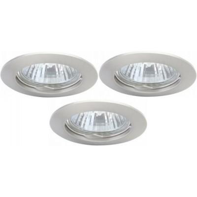 Светильник встраиваемый Arte lamp A2103PL-3SS Basic (3шт)Точечные светильники круглые<br>Встраиваемые светильники – популярное осветительное оборудование, которое можно использовать в качестве основного источника или в дополнение к люстре. Они позволяют создать нужную атмосферу атмосферу и привнести в интерьер уют и комфорт. <br> Интернет-магазин «Светодом» предлагает стильный встраиваемый светильник ARTE Lamp A2103PL-3SS. Данная модель достаточно универсальна, поэтому подойдет практически под любой интерьер. Перед покупкой не забудьте ознакомиться с техническими параметрами, чтобы узнать тип цоколя, площадь освещения и другие важные характеристики. <br> Приобрести встраиваемый светильник ARTE Lamp A2103PL-3SS в нашем онлайн-магазине Вы можете либо с помощью «Корзины», либо по контактным номерам. Мы развозим заказы по Москве, Екатеринбургу и остальным российским городам.<br><br>S освещ. до, м2: 10<br>Тип лампы: галогенная<br>Тип цоколя: GU10<br>Цвет арматуры: серебристый<br>Количество ламп: 3<br>Ширина, мм: 75<br>Диаметр, мм мм: 75<br>Диаметр врезного отверстия, мм: 60<br>Высота, мм: 110<br>MAX мощность ламп, Вт: 50