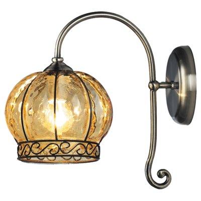 Светильник настенный Arte lamp A2106AP-1AB VeniceВосточный стиль<br><br><br>S освещ. до, м2: 4<br>Тип лампы: накаливания / энергосбережения / LED-светодиодная<br>Тип цоколя: E14<br>Количество ламп: 1<br>Ширина, мм: 170<br>MAX мощность ламп, Вт: 60<br>Диаметр, мм мм: 260<br>Расстояние от стены, мм: 260<br>Высота, мм: 280<br>Цвет арматуры: бронзовый