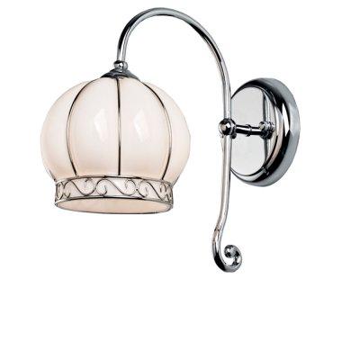 Светильник настенный Arte lamp A2106AP-1WH VeneziaВосточный стиль<br><br><br>S освещ. до, м2: 4<br>Крепление: пластина<br>Тип лампы: накаливания / энергосбережения / LED-светодиодная<br>Тип цоколя: E14<br>Количество ламп: 1<br>Ширина, мм: 170<br>MAX мощность ламп, Вт: 60<br>Диаметр, мм мм: 260<br>Длина, мм: 260<br>Высота, мм: 280<br>Цвет арматуры: серебристый