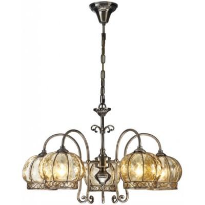 Люстра Arte lamp A2106LM-5AB VeniceВосточный стиль<br><br><br>Установка на натяжной потолок: Да<br>S освещ. до, м2: 20<br>Крепление: Планка<br>Тип товара: Люстра<br>Скидка, %: 14<br>Тип лампы: накаливания / энергосбережения / LED-светодиодная<br>Тип цоколя: E14<br>Количество ламп: 5<br>Ширина, мм: 620<br>MAX мощность ламп, Вт: 60<br>Диаметр, мм мм: 620<br>Длина цепи/провода, мм: 400<br>Высота, мм: 380<br>Цвет арматуры: бронзовый