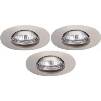 Светильник встраиваемый Arte lamp A2109PL-3SS Saturn (3шт)Овальные<br><br><br>S освещ. до, м2: 10<br>Тип товара: точечный встраиваемый светильник<br>Скидка, %: 70<br>Тип лампы: галогенная<br>Тип цоколя: GU10<br>Количество ламп: 3<br>Ширина, мм: 102<br>MAX мощность ламп, Вт: 50<br>Диаметр, мм мм: 82<br>Диаметр врезного отверстия, мм: 75<br>Длина, мм: 102<br>Высота, мм: 110<br>Цвет арматуры: никель матовый/сплав