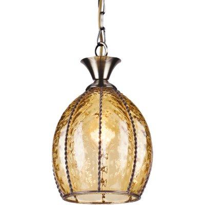 Подвесной светильник Arte lamp A2115SP-1AB VeneziaОдиночные<br><br><br>S освещ. до, м2: 3<br>Крепление: металлический крюк<br>Тип товара: Светильник подвесной<br>Тип лампы: накаливания / энергосбережения / LED-светодиодная<br>Тип цоколя: E14<br>Количество ламп: 1<br>MAX мощность ламп, Вт: 60<br>Диаметр, мм мм: 150<br>Длина цепи/провода, мм: 700<br>Высота, мм: 220<br>Оттенок (цвет): Прозрачный<br>Цвет арматуры: бронзовый