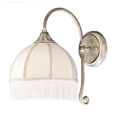Светильник настенный Arte lamp A2116AP-1WG BiancaРустика<br><br><br>S освещ. до, м2: 4<br>Крепление: пластина<br>Тип лампы: накаливания / энергосбережения / LED-светодиодная<br>Тип цоколя: E14<br>Количество ламп: 1<br>Ширина, мм: 320<br>MAX мощность ламп, Вт: 60<br>Диаметр, мм мм: 200<br>Длина, мм: 320<br>Высота, мм: 310<br>Цвет арматуры: белый с золотистой патиной