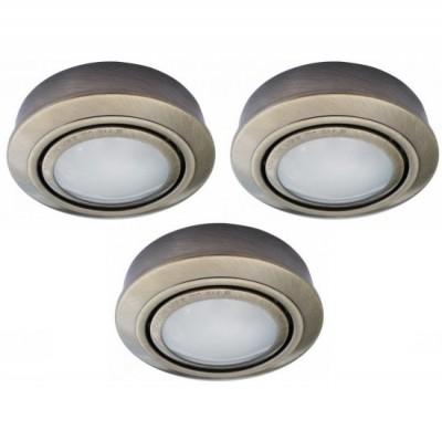 Светильник встраиваемый Arte lamp A2123PL-3AB TopicКруглые<br>Встраиваемые светильники – популярное осветительное оборудование, которое можно использовать в качестве основного источника или в дополнение к люстре. Они позволяют создать нужную атмосферу атмосферу и привнести в интерьер уют и комфорт.   Интернет-магазин «Светодом» предлагает стильный встраиваемый светильник ARTE Lamp A2123PL-3AB. Данная модель достаточно универсальна, поэтому подойдет практически под любой интерьер. Перед покупкой не забудьте ознакомиться с техническими параметрами, чтобы узнать тип цоколя, площадь освещения и другие важные характеристики.   Приобрести встраиваемый светильник ARTE Lamp A2123PL-3AB в нашем онлайн-магазине Вы можете либо с помощью «Корзины», либо по контактным номерам. Мы развозим заказы по Москве, Екатеринбургу и остальным российским городам.<br><br>S освещ. до, м2: 4<br>Тип лампы: галогенная<br>Тип цоколя: G4<br>Количество ламп: 3<br>Ширина, мм: 75<br>MAX мощность ламп, Вт: 20<br>Диаметр, мм мм: 75<br>Диаметр врезного отверстия, мм: 10<br>Высота, мм: 10<br>Цвет арматуры: бронзовый