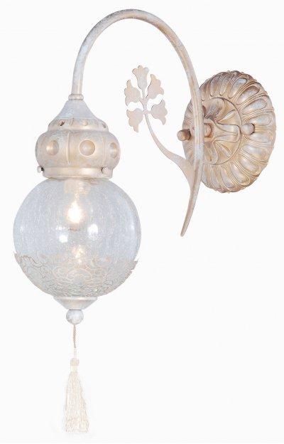 Светильник Arte lamp A2145AP-1GA RamsesКлассические<br><br><br>Тип лампы: накал-я - энергосбер-я<br>Тип цоколя: E14<br>Цвет арматуры: бежевый с золотистой патиной<br>Количество ламп: 1<br>Ширина, мм: 150<br>Длина, мм: 350<br>Высота, мм: 480<br>MAX мощность ламп, Вт: 40