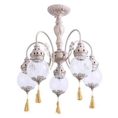 Светильник Arte Lamp A2146PL-5GAлюстры подвесные классические<br>Светильник Arte Lamp A2146PL-5GA сделает Ваш интерьер современным, стильным и запоминающимся! Наиболее функционально и эстетически привлекательно модель будет смотреться в гостиной, зале, холле или другой комнате. А в комплекте с настенными бра и торшером из этой же коллекции, сделает интерьер по-дизайнерски профессиональным и законченным.