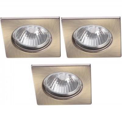 Светильник встраиваемый Arte lamp A2210PL-3AB QuadratischКвадратные<br><br><br>S освещ. до, м2: 10<br>Тип товара: точечный встраиваемый светильник<br>Скидка, %: 57<br>Тип лампы: галогенная<br>Тип цоколя: GU10<br>Количество ламп: 3<br>Ширина, мм: 74<br>MAX мощность ламп, Вт: 50<br>Диаметр, мм мм: 74<br>Диаметр врезного отверстия, мм: 55<br>Высота, мм: 110<br>Цвет арматуры: бронзовый