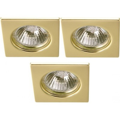 Светильник встраиваемый Arte lamp A2210PL-3GO QuadratischКвадратные<br><br><br>S освещ. до, м2: 10<br>Тип товара: точечный встраиваемый светильник<br>Скидка, %: 27<br>Тип лампы: галогенная<br>Тип цоколя: GU10<br>Количество ламп: 3<br>Ширина, мм: 74<br>MAX мощность ламп, Вт: 50<br>Диаметр, мм мм: 74<br>Диаметр врезного отверстия, мм: 55<br>Высота, мм: 110<br>Цвет арматуры: Золотой