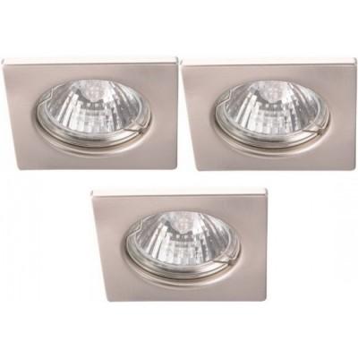 Светильник встраиваемый Arte lamp A2210PL-3SS Quadratischснятые с производства светильники<br><br><br>S освещ. до, м2: 10<br>Тип лампы: галогенная<br>Тип цоколя: GU10<br>Цвет арматуры: серебристый<br>Количество ламп: 3<br>Ширина, мм: 74<br>Диаметр, мм мм: 74<br>Диаметр врезного отверстия, мм: 55<br>Высота, мм: 110<br>MAX мощность ламп, Вт: 50