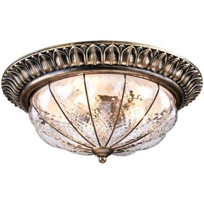 Люстра потолочная Arte lamp A2241PL-3BG San MarcoПотолочные<br><br><br>Установка на натяжной потолок: Ограничено<br>S освещ. до, м2: 9<br>Крепление: Планка<br>Тип товара: Люстра<br>Скидка, %: 8<br>Тип лампы: накаливания / энергосбережения / LED-светодиодная<br>Тип цоколя: E14<br>Количество ламп: 3<br>MAX мощность ламп, Вт: 60<br>Диаметр, мм мм: 400<br>Высота, мм: 170<br>Оттенок (цвет): прозрачный<br>Цвет арматуры: коричневый