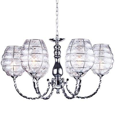 Люстра потолочная Arte lamp A2256LM-6CC TokyoПодвесные<br><br><br>Установка на натяжной потолок: Да<br>S освещ. до, м2: 18<br>Крепление: Крюк<br>Тип товара: Люстра подвесная<br>Скидка, %: 34<br>Тип лампы: накаливания / энергосбережения / LED-светодиодная<br>Тип цоколя: E14<br>Количество ламп: 6<br>MAX мощность ламп, Вт: 40<br>Диаметр, мм мм: 660<br>Длина цепи/провода, мм: 500<br>Высота, мм: 380<br>Оттенок (цвет): прозрачный<br>Цвет арматуры: серебристый