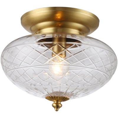 Потолочный светильник Arte lamp A2302PL-1PB FabergeПотолочные<br>Компания «Светодом» предлагает широкий ассортимент люстр от известных производителей. Представленные в нашем каталоге товары выполнены из современных материалов и обладают отличным качеством. Благодаря широкому ассортименту Вы сможете найти у нас люстру под любой интерьер. Мы предлагаем как классические варианты, так и современные модели, отличающиеся лаконичностью и простотой форм.  Стильная люстра Arte lamp A2302PL-1PB станет украшением любого дома. Эта модель от известного производителя не оставит равнодушным ценителей красивых и оригинальных предметов интерьера. Люстра Arte lamp A2302PL-1PB обеспечит равномерное распределение света по всей комнате. При выборе обратите внимание на характеристики, позволяющие приобрести наиболее подходящую модель. Купить понравившуюся люстру по доступной цене Вы можете в интернет-магазине «Светодом».<br><br>Установка на натяжной потолок: Ограничено<br>S освещ. до, м2: 2<br>Крепление: Планка<br>Тип лампы: накаливания / энергосбережения / LED-светодиодная<br>Тип цоколя: E27<br>Количество ламп: 1<br>MAX мощность ламп, Вт: 40<br>Диаметр, мм мм: 250<br>Высота, мм: 200<br>Оттенок (цвет): Прозрачный<br>Цвет арматуры: бронзовый