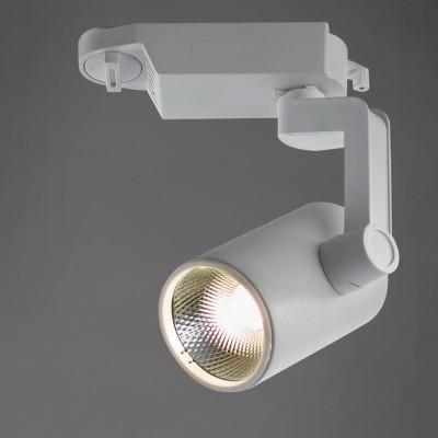A2310PL-1WH Arte lamp СветильникСветильники для трека<br><br><br>Цветовая t, К: 4000K<br>Тип цоколя: LED<br>Количество ламп: 1<br>MAX мощность ламп, Вт: 10W<br>Диаметр, мм мм: 100<br>Размеры: ?54*H180<br>Длина, мм: 60<br>Высота, мм: 180<br>Цвет арматуры: БЕЛЫЙ<br>Общая мощность, Вт: 10W