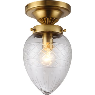 Потолочный светильник Arte lamp A2312PL-1PB FabergeПотолочные<br>Компания «Светодом» предлагает широкий ассортимент люстр от известных производителей. Представленные в нашем каталоге товары выполнены из современных материалов и обладают отличным качеством. Благодаря широкому ассортименту Вы сможете найти у нас люстру под любой интерьер. Мы предлагаем как классические варианты, так и современные модели, отличающиеся лаконичностью и простотой форм.  Стильная люстра Arte lamp A2312PL-1PB станет украшением любого дома. Эта модель от известного производителя не оставит равнодушным ценителей красивых и оригинальных предметов интерьера. Люстра Arte lamp A2312PL-1PB обеспечит равномерное распределение света по всей комнате. При выборе обратите внимание на характеристики, позволяющие приобрести наиболее подходящую модель. Купить понравившуюся люстру по доступной цене Вы можете в интернет-магазине «Светодом».<br><br>Установка на натяжной потолок: Да<br>S освещ. до, м2: 2<br>Крепление: Планка<br>Тип лампы: накаливания / энергосбережения / LED-светодиодная<br>Тип цоколя: E14<br>Цвет арматуры: бронзовый<br>Количество ламп: 1<br>Диаметр, мм мм: 140<br>Высота, мм: 280<br>Оттенок (цвет): прозрачный серебристый<br>MAX мощность ламп, Вт: 40