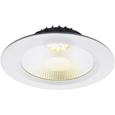 Точечный светильник Arte lamp A2415PL-1WH UovoАрхив<br><br><br>S освещ. до, м2: 3<br>Тип лампы: Светодиодная (LED)<br>Тип цоколя: LED<br>Количество ламп: 1<br>MAX мощность ламп, Вт: 15<br>Диаметр, мм мм: 180<br>Высота, мм: 60<br>Оттенок (цвет): Прозрачный<br>Цвет арматуры: Белый