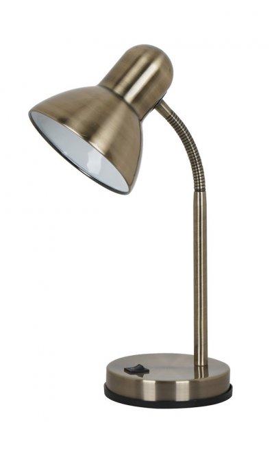 Светильник настольный Arte lamp A2488LT-1AB COSYОфисные<br>Настольная лампа – это не просто источник дополнительного освещения, но и оригинальный элемент декора. Его можно установить в спальне, гостиной, кабинете и других комнатах. Интернет-магазин «Светодом» предлагает настольные лампы разных стилей по доступным ценам. Благодаря большому ассортименту Вы обязательно найдете в нашем каталоге именно ту модель, которую искали. <br> Настольная лампа Arte lamp A2488LT-1AB – прекрасный вариант для завершения интерьера. Ее можно включить одновременно с люстрой для более яркого освещения или без нее для создания уютной атмосферы, настраивающей на отдых. <br> Купить настольную лампу Arte lamp A2488LT-1AB Вы можете с помощью виртуальной «Корзины» или по контактным номерам, указанным на сайте.<br><br>Тип лампы: Накаливания / энергосбережения / светодиодная<br>Тип цоколя: E27<br>Цвет арматуры: бронзовый<br>Количество ламп: 1<br>Размеры: H40xW13xL20<br>MAX мощность ламп, Вт: 60