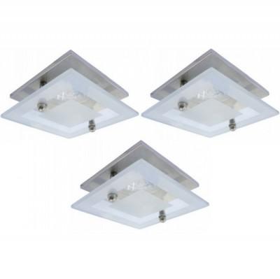 Светильник встраиваемый Arte lamp A2754PL-3SS TopicКвадратные<br><br><br>S освещ. до, м2: 10<br>Тип товара: Светильник потолочный<br>Скидка, %: 75<br>Тип лампы: галогенная<br>Тип цоколя: GU10<br>Количество ламп: 3<br>Ширина, мм: 85<br>MAX мощность ламп, Вт: 50<br>Диаметр, мм мм: 85<br>Диаметр врезного отверстия, мм: 55<br>Высота, мм: 125<br>Цвет арматуры: серебристый