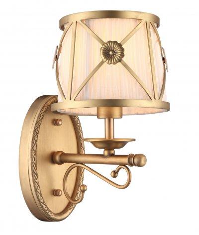 Светильник Arte lamp A2806AP-1SR CHICКлассические<br><br><br>Тип лампы: накал-я - энергосбер-я<br>Тип цоколя: E14<br>Цвет арматуры: золотой<br>Количество ламп: 1<br>Ширина, мм: 160<br>Длина, мм: 210<br>Высота, мм: 280<br>MAX мощность ламп, Вт: 40